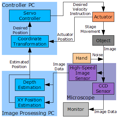 System diagram of the trial microscope system.
